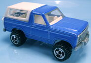 Bronco 4-Wheeler blue Ford 5-pack PAINTED BASE