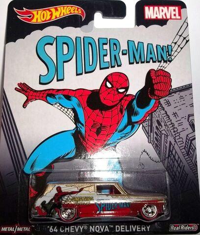 File:HW-2015-Pop Culture-Mix D-Marvel-'64 Chevy Nova Delivery-Spider-Man!..jpg