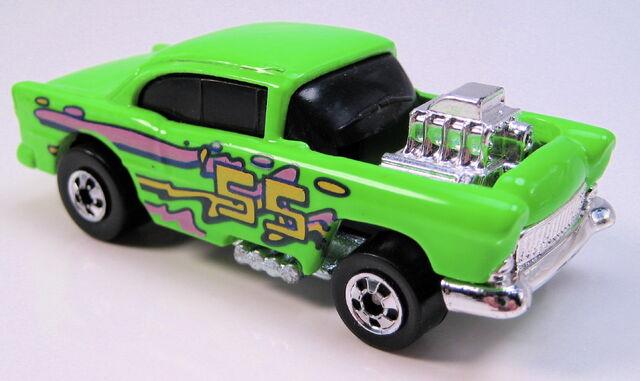 File:55 chevy super cal custom neon green BW metal MAL base.JPG