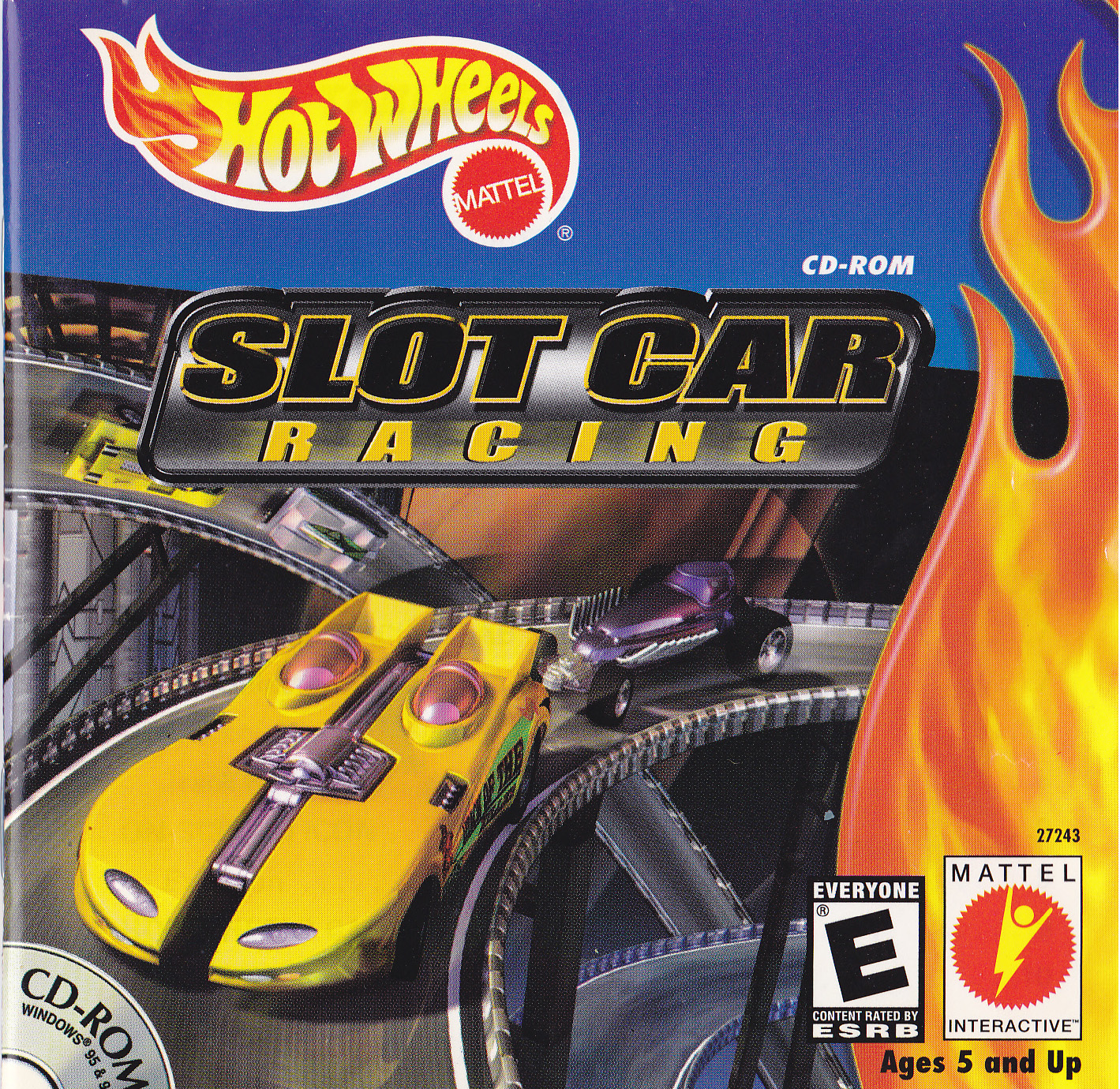 Hot Wheels Slot Car Racing comes with unique controllers.These controllers are similar to actual slot car controllers.There are two, and they each have a yellow button on the back of the controller.Like a real slot car, the speed of the car will depend on how much the player squeezes the contoller.