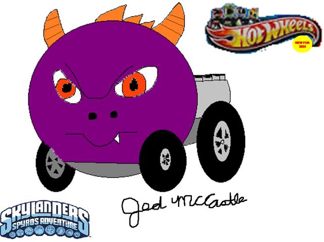 File:My Spyro Hot Wheels car concept.png