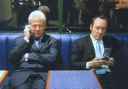 Bill Clinton and Kevin Spacey 2002