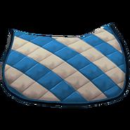 Klassische Satteldecke 2 Blau Weiß
