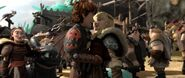 Hiccup just about to kiss Astrid