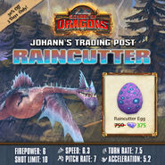 Raincutter Egg Sale