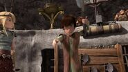 Hiccup as he is about to throw his axe