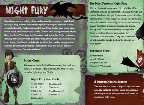 night fury description how to train your dragon 2