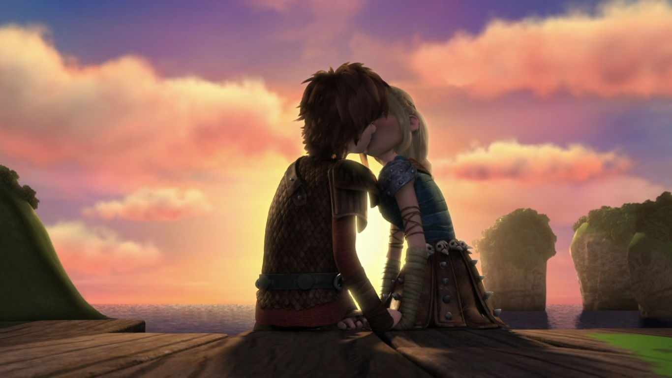 After Astrid Was Blinded And Knocked Over By A Strike Of Lightning, Hiccup  Expresses His Concern Over Her Condition, Speaking With Her Alone And  Trying To