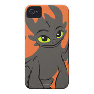 Toothless Illustration 02 iPhone 4 Case-Mate Case