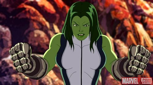 She hulk is ready to fight
