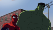 Hulk is talking to spidey