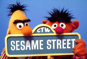 Ernie bert ctw sign