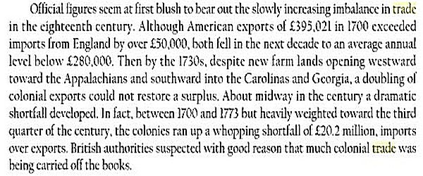 Overseas Trade in USA - 1700 to 1850