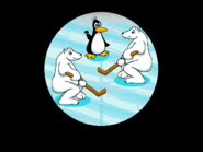 Penguin and Two Polar Bears