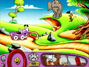 Putt-Putt, Baby Jambo and Giant Scary Mouse