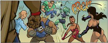Bind, Lash and Phobia vs Bombshell, Titan and Phobia