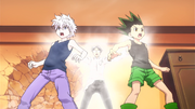 Wing initiating Gon and Killua to Nen