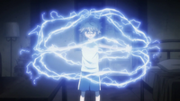 Killua transmuting electricity