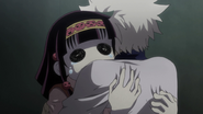 Killua hugging Nanika