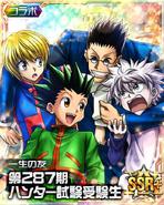 Gon, Killua, Kurapika and Leorio card 01
