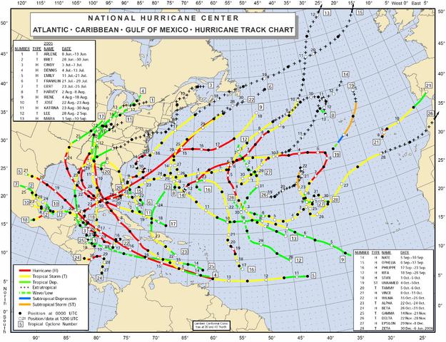 File:2005 Atlantic hurricane season map.png