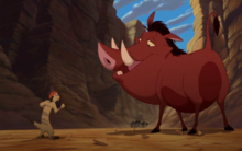 Timon with Pumbaa (The Lion King 3)