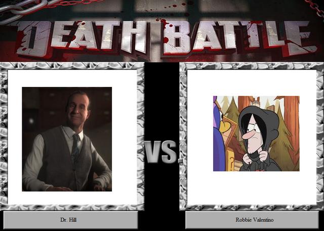 File:Death battle Dr. Hill VS Robbie Valentino.png