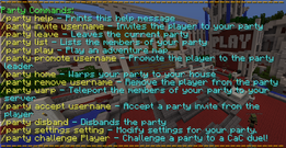 Party commands