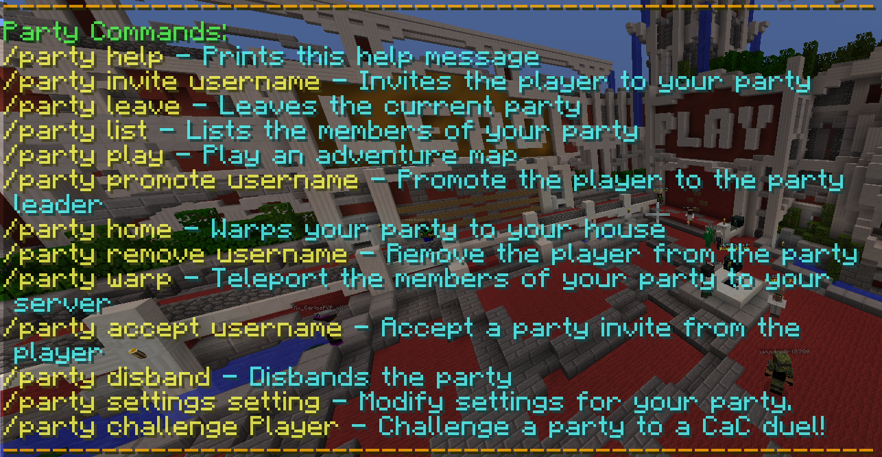 Party System Hypixel Wiki – Invite to the Party