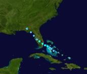 Tropical Storm Danielle (2022 - Track)