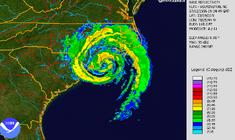 Hurricane Bertha (1996) Radar