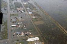 Flooding in Galveston from Hurricane Rita