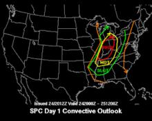Tornado risk october 2001