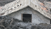 Lava claims a house near Mount Troublesome