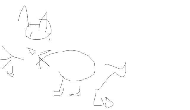 File:Cat drawing with my eyes closed.png