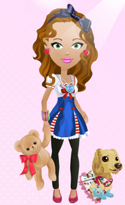 SFG's Cartoon Girl and Dog