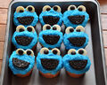 Sally makes her own cookie monster cupcakes.jpg
