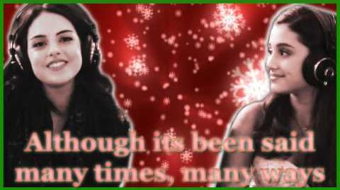 "Elizabeth Gillies and Ariana Grande - ""Chestnuts (Roasting on an Open Fire)"" - Lyrics Video"