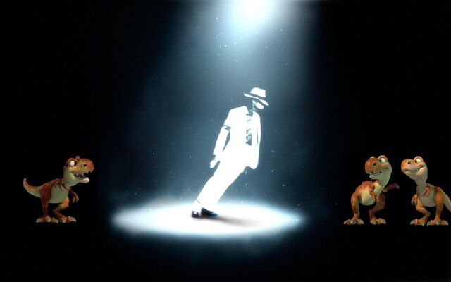File:MJ and the baby dinos.jpg