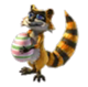 Springtime Raccoon Baby