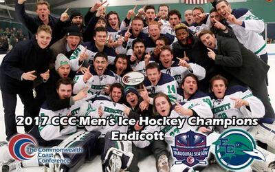 2017 CCC Men's Ice Hockey Champions Endicott Gulls