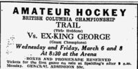 1928-29 British Columbia Senior Playoffs