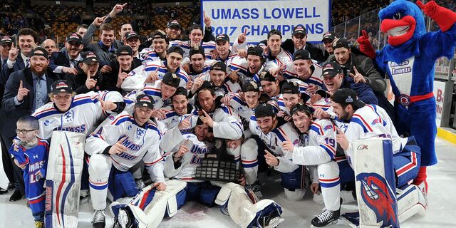 File:2017 Hockey East Men's Champions UMass-Lowell River Hawks.jpg