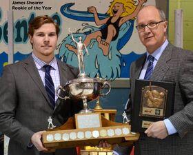 James Shearer receives Vince Leah Memorial Trophy
