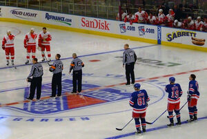 NHL officials at MSG