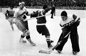 1954 World Ice Hockey Championships Canada vs Soviet