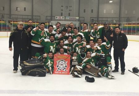 2017 NWSHL champs Norway House North Stars