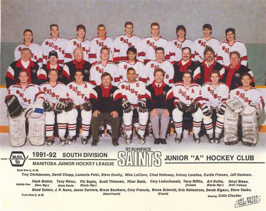 St. Boniface Saints 1991-92 web