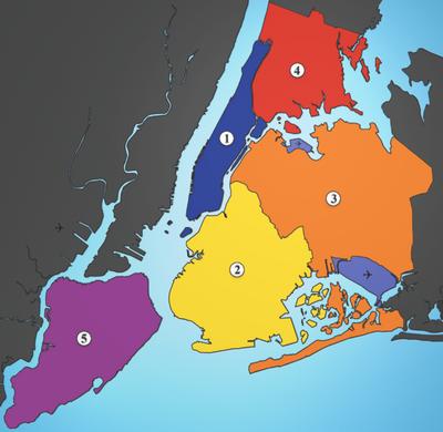5 Boroughs of New York City