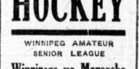 1919-20 Winnipeg Senior Hockey League Season